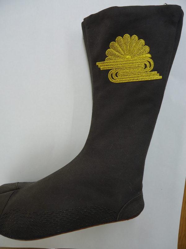 祭刺繍 地下足袋刺繍 菊水紋のサムネイル
