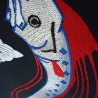 学ラン 裏地刺繍 リュウグウノツカイのサムネイル